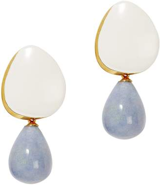 Lizzie Fortunato Cream Painted Drop Earrings