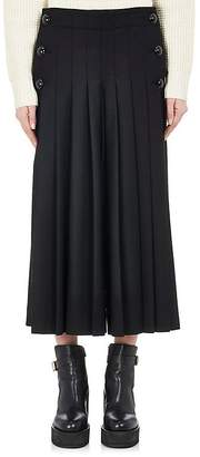 Sacai Women's Pleated-Front Wool-Blend Culottes