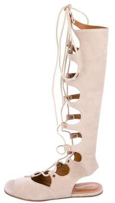 Chloé Studded Suede Gladiator Sandals w/ Tags