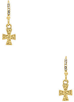Luv Aj The Hammered Pave Cross Hooks
