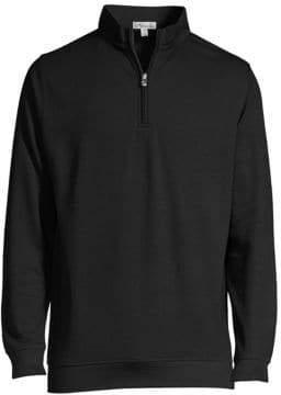 Peter Millar Men's Quarter Zip Pullover - Black - Size XXL