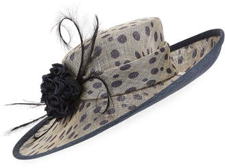 Rachel Trevor-morgan Rachel Trevor Morgan Spotted Side Sweep Derby Hat