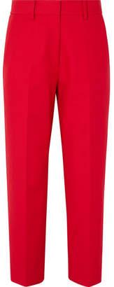 Khaite - Catherine Cotton-twill Straight-leg Pants - Red