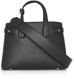 Burberry The Small Banner Perforated Leather Tote