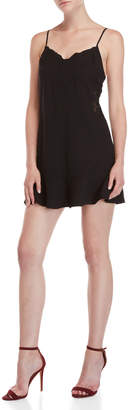 Lush Black Embroidered Cami Dress