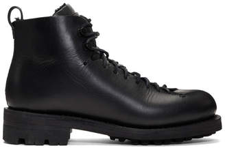 Feit Black Wool Hiker Boots