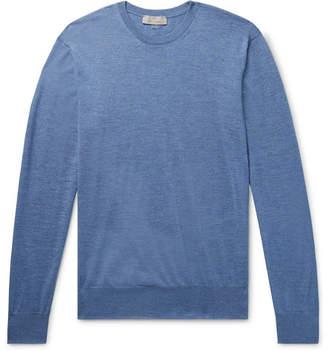 Canali Mélange Merino Wool Sweater