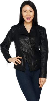 Peace Love World Lamb Leather Motorcycle Jacket