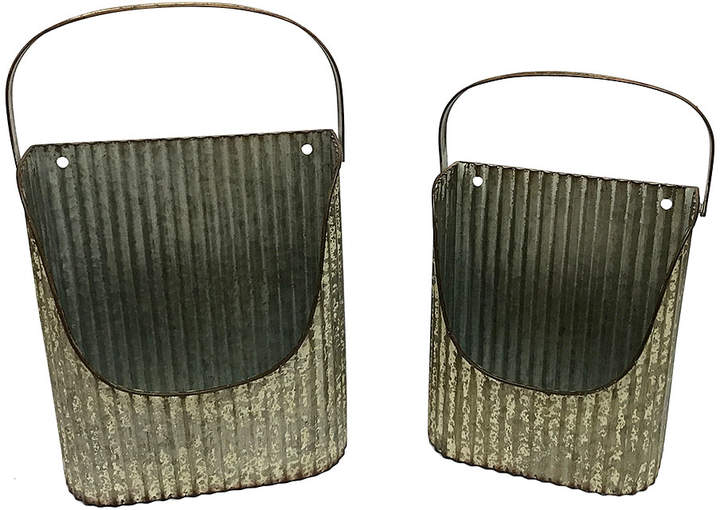 Buy Corrugated Tin Wall Basket - Set of Two!