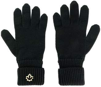 DSQUARED2 logo plaque gloves