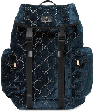 Gucci Medium GG velvet backpack