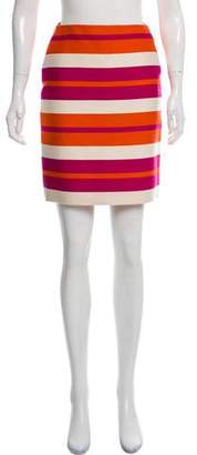 Celine Striped Wool Skirt