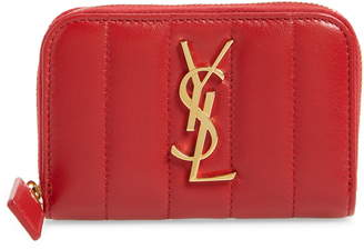 Saint Laurent Vicky Zip Around Card Wallet