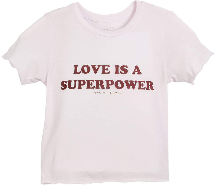 Spiritual Gangster Love Is A Superpower Tee, Size 6-14
