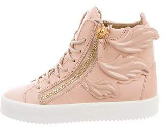 Giuseppe Zanotti Winged High-Top Sneakers w/ Tags
