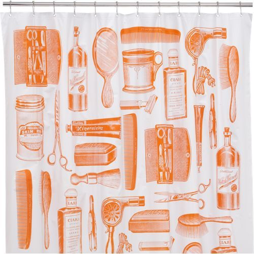 Barbershop shower curtain