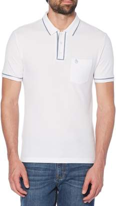 Original Penguin The Earl Chambray Trim Pique Polo