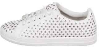 Alaia Grommet Accent Low-Top Sneakers