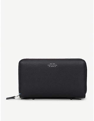 Smythson Burlington double-zip leather travel wallet
