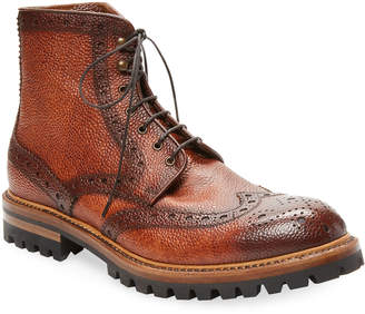 Antonio Maurizi Brogue Leather Boot