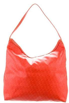 DKNY Leather Trim Canvas Hobo
