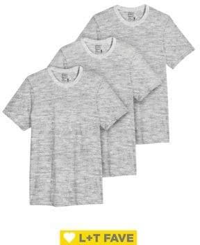 Jockey Three-Pack Cotton Classic Crewneck T-shirts