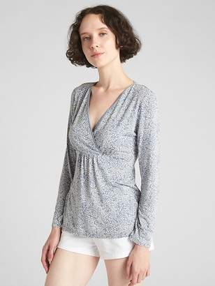 Gap Maternity V-Neck Nursing Sleep Top