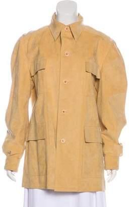 Halston Lightweight Suede Jacket