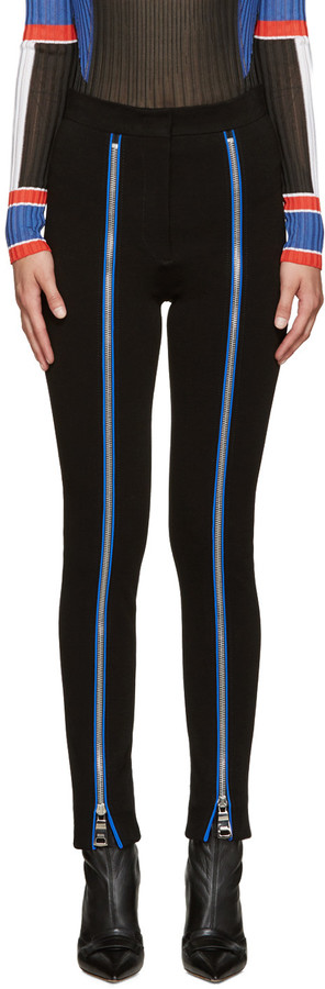 Emilio Pucci Black Zipper Leggings