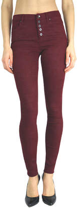 Tractr Blu Red Hi-waist Button front Jeans