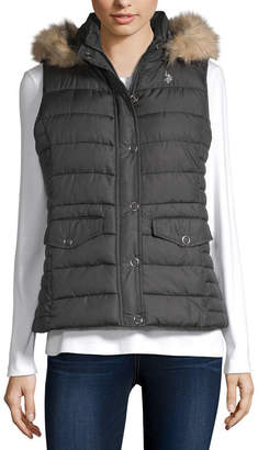 U.S. Polo Assn. Hooded Quilted Vest