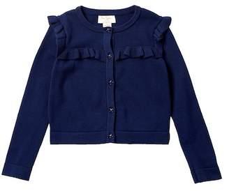Kate Spade ruffle yoke cardigan sweater (Toddler & Little Girls)