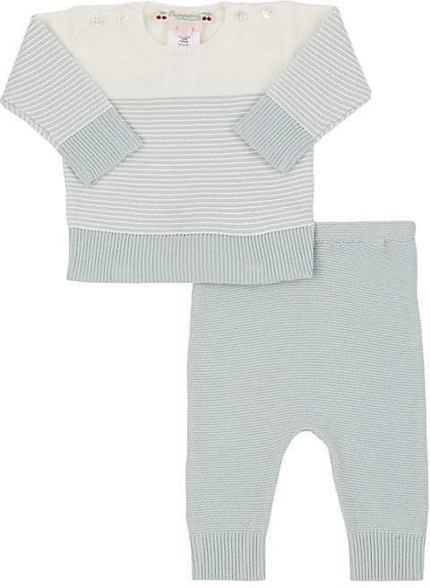 Infants' Striped Knit Cotton Sweater & Pants