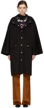 MACKINTOSH Black Wool Cape Coat