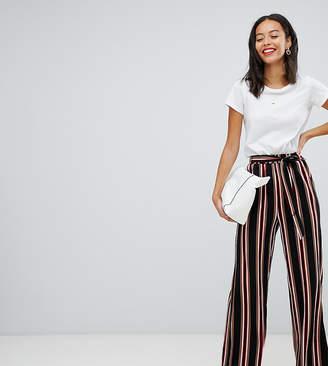 Parisian Tall wide leg stripe pants