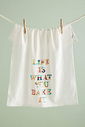 Yolanda Andres Life Is What You Bake It Dish Towel