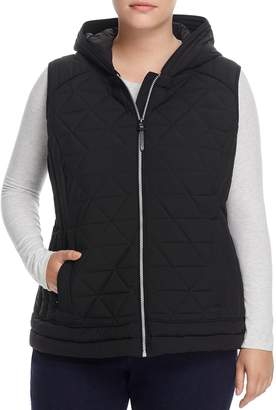 Andrew Marc Plus Sage Hooded Quilted Vest