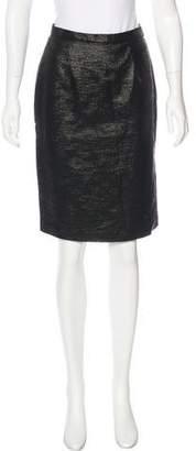 Rebecca Vallance Metallic Pencil Skirt