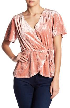June & Hudson Velvet Wrap Top