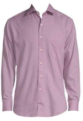 Peter Millar Province Checkered Button-Down Shirt
