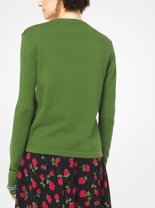 Michael Kors Embroidered Cashmere-Blend Pullover