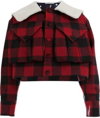 Charles Jeffrey Loverboy oversized collar checked jacket