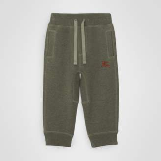 Burberry Childrens Embroidered Logo Cotton Trackpants