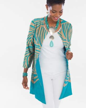 Of the Moment Travelers Collection Reversible Crushed Zebra Jacket