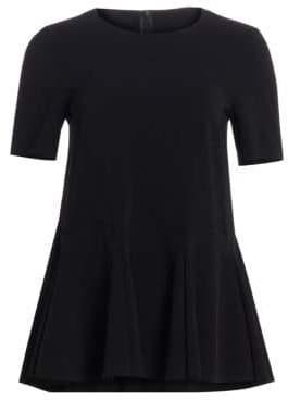 Akris Punto Short-Sleeve Peplum Blouse
