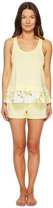 Kate Spade Lemon Souffle Lemons Short Set Women's Pajama Sets