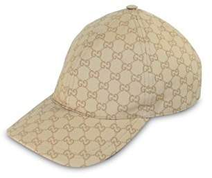 Gucci GG Coated Cotton Web Stripe Baseball Cap, 387561 (XL (X-Large))