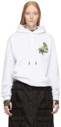 Off-White Off White SSENSE Exclusive White Racing Arrows Hoodie