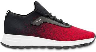 Prada knit fabric sneakers