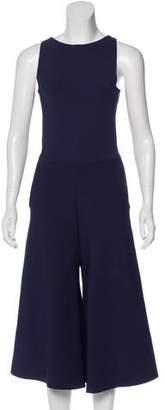 Valentino Wide-Leg Cropped Jumpsuit